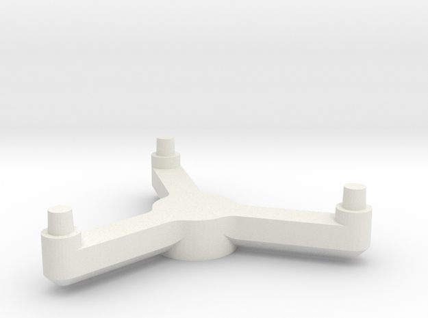 3788 Scale Tholian PC Pinwheel Stand Topper SRZ in White Strong & Flexible