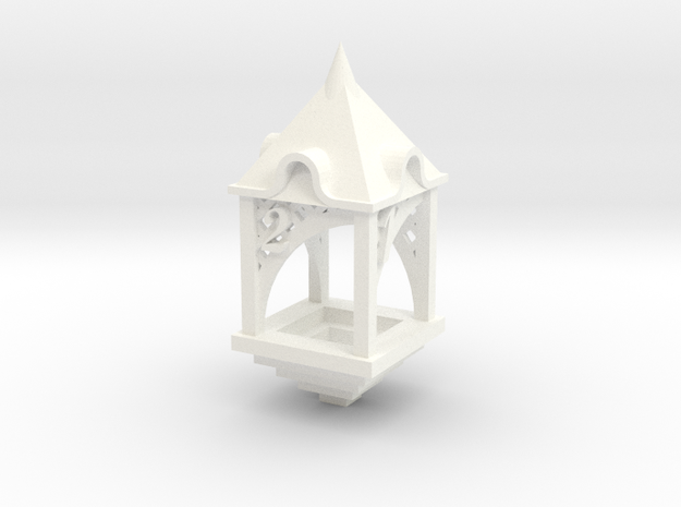 Gazebo d4 in White Processed Versatile Plastic
