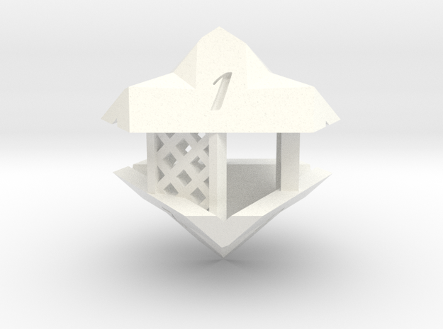 Gazebo d6 in White Processed Versatile Plastic