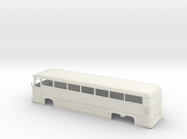 1/35 MCI MC 12 Coach Shell in White Natural Versatile Plastic