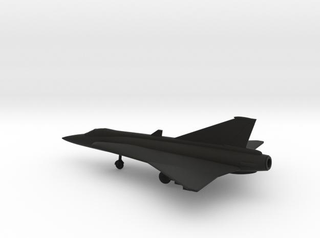 Saab J.35 Draken in Black Natural Versatile Plastic: 1:160 - N
