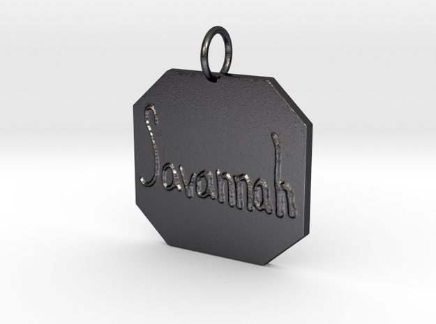 """""""Savannah"""" Pendant in Polished and Bronzed Black Steel"""