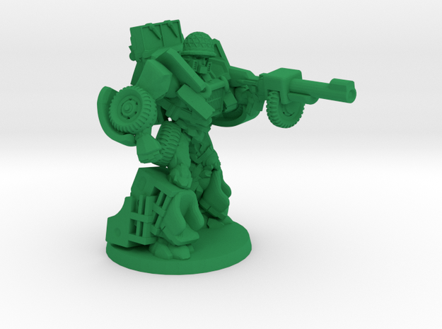 """Deadeye"" - Allied WWII Mechanoid Miniature in Green Processed Versatile Plastic"