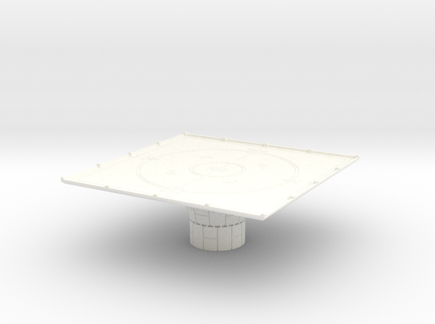1/270 Imperial Landing Pad (Small) in White Strong & Flexible Polished
