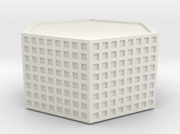 Hesco type barrier 28mm scale in White Natural Versatile Plastic