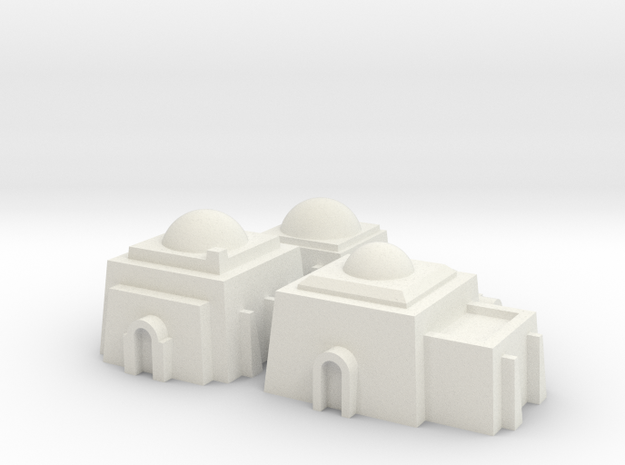 1/270 Tatooine Buildings in White Strong & Flexible