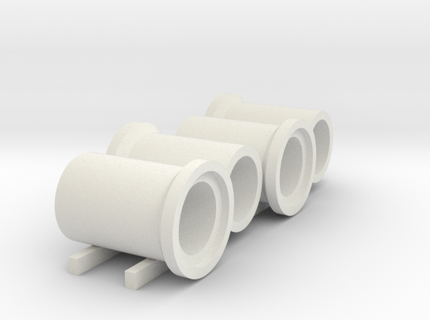 N scale (1:160) barge of sewer pipes for DAF DO 24 in White Natural Versatile Plastic