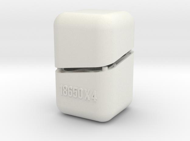 Swedish Vaper 18650x4 Battery Holder in White Natural Versatile Plastic