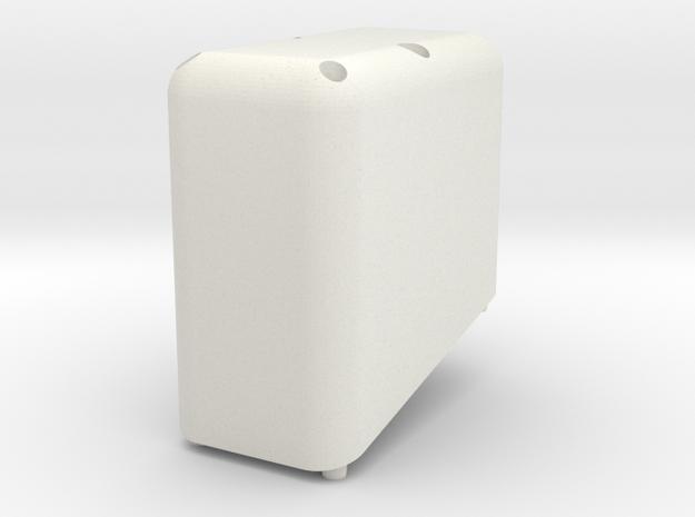 Swedish Vaper 2 x 20700 or 18650 Holder TOP in White Natural Versatile Plastic
