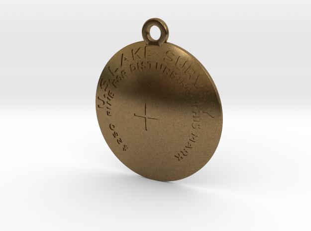 USLS  Benchmark Keychain in Natural Bronze