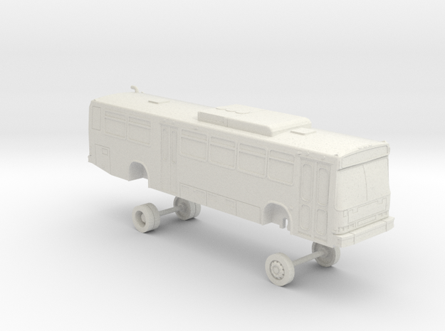 HO Scale Bus Neoplan AN440 LACMTA 6300s in White Natural Versatile Plastic