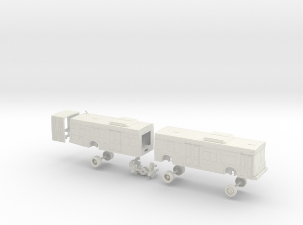 HO Scale Bus New Flyer D60LF VTA 2300s in White Natural Versatile Plastic