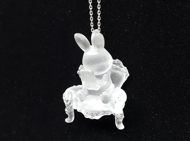 Phoneholic Rabbit pendant in Smoothest Fine Detail Plastic
