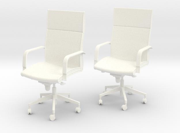 WheelChair in White Processed Versatile Plastic: 6mm