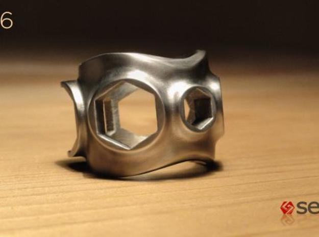 1086 ToolRing - size 8 (18,19 mm) 3d printed 1086 ToolRing - Brushed Finish A