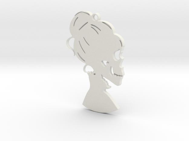 """hers"" Pendant in White Natural Versatile Plastic"