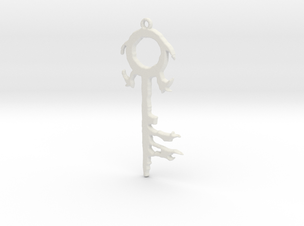 The Silver Key Pendant in White Natural Versatile Plastic