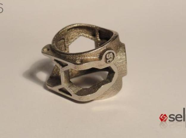 1086 ToolRing - size 7 (17,35 mm) 3d printed 1086 ToolRing - Primal Finish C