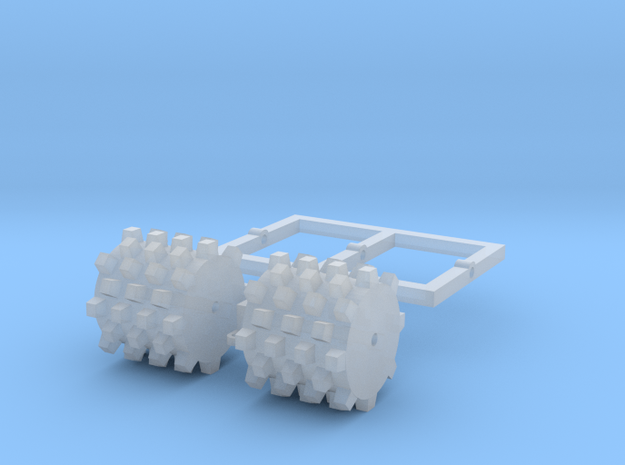 1:76 Wide Tow behind sheeps foot compactor.  in Smooth Fine Detail Plastic