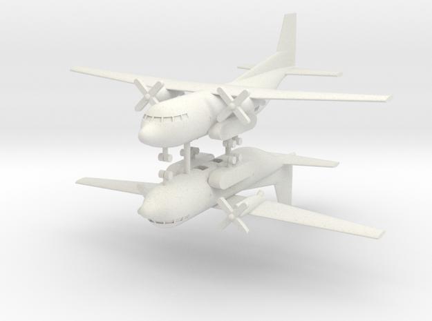 1/285 Transall C-160 (x2) in White Natural Versatile Plastic