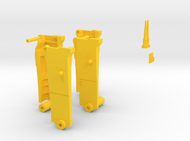 Yellow Pieces merged in Yellow Processed Versatile Plastic