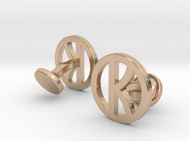 Kingsman Cufflinks in 14k Rose Gold Plated Brass