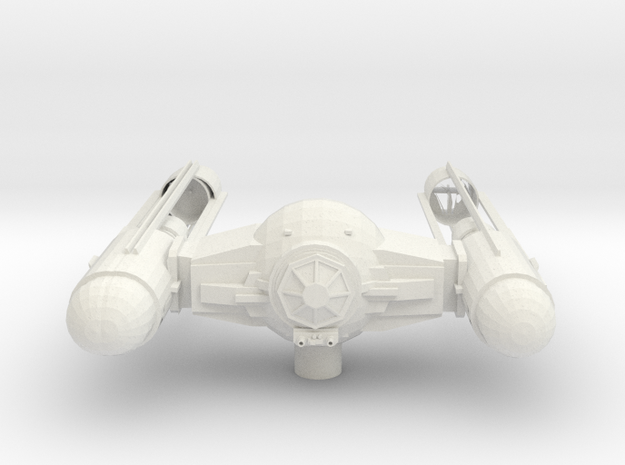 Tie Wing Fighter with upgraded Shell in White Natural Versatile Plastic