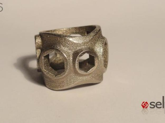 1086 ToolRing - size 12 (21,40mm) 3d printed 1086 ToolRing - Primal Finish A