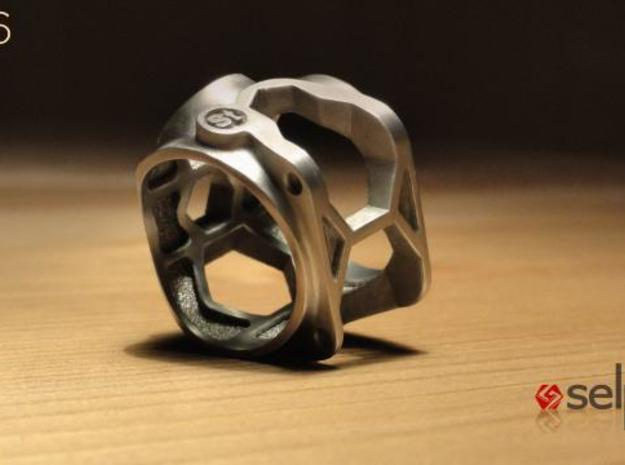 1086 ToolRing - size 12 (21,40mm) 3d printed 1086 ToolRing - Brushed Finish C