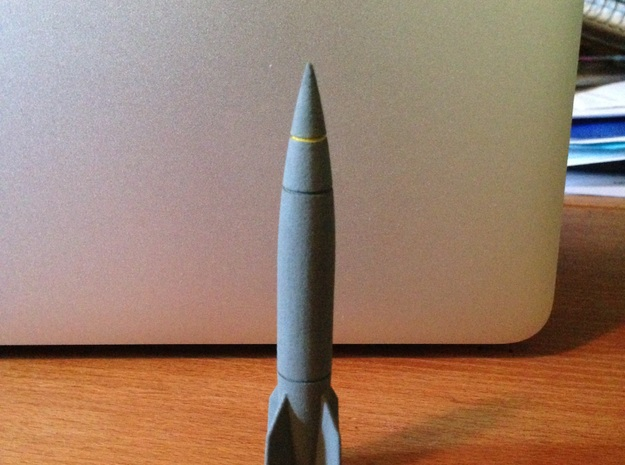 1/144 V2-A4 Rocket in White Processed Versatile Plastic