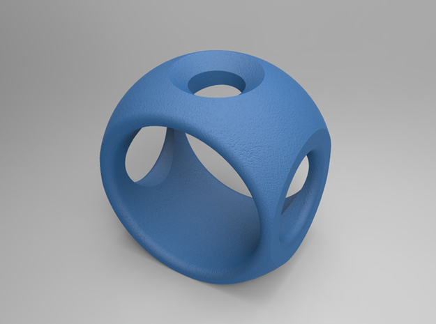 RING SPHERE 2 - SIZE 9 3d printed