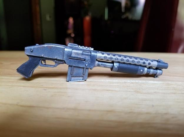 Zx76 Double Barrel Shotgun 1:6 scale in Frosted Ultra Detail