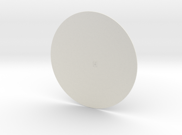 12th scale dome-H-1 in White Natural Versatile Plastic