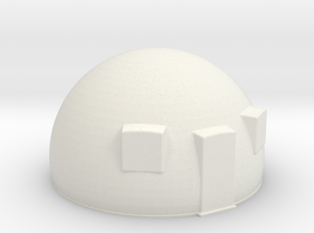 50th scale dome-1 in White Natural Versatile Plastic