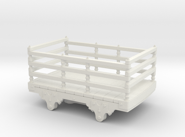 5.5mm scale Festiniog wooden slate wagon  in White Natural Versatile Plastic