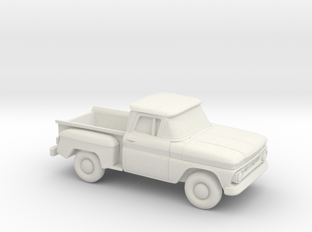 1/87 1962 Chevrolet C-10 Stepside S. Rear Window in White Natural Versatile Plastic