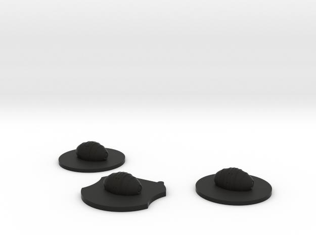 Cluster Mine Token Set  in Black Natural Versatile Plastic