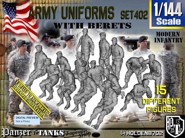 1/144 Modern Uniforms Berets Set402
