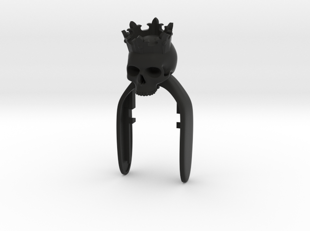 KING SKULL KEY FOB in Black Natural Versatile Plastic
