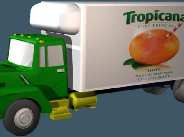 Mack Refrigerator Truck - Z scale  3d printed Color Render