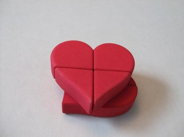 Heart 2x2x2 Puzzle 3d printed Part turn