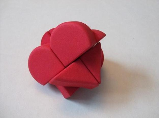 Heart 2x2x2 Puzzle 3d printed Turns