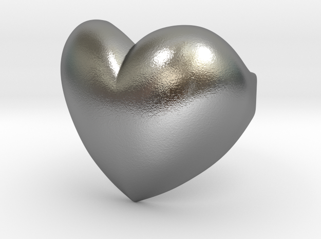 Heart ring in Raw Silver