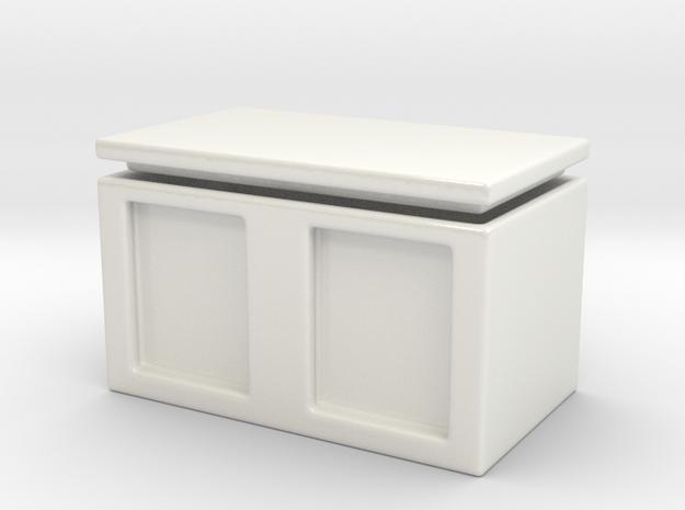 Photo box porcelain in Gloss White Porcelain