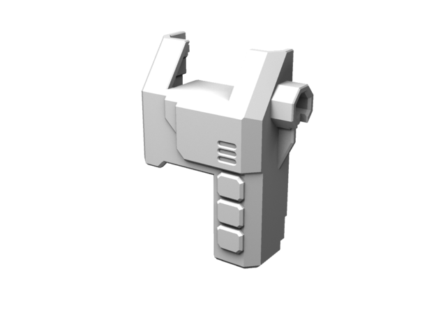 TR Overlord Forearm Adaptor (Left) in White Processed Versatile Plastic