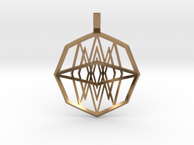 Mirrored Diamonds (Domed) in Raw Brass