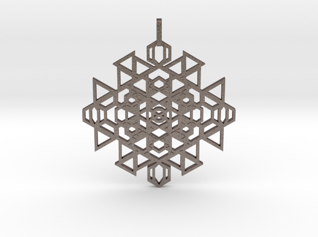 Seal Of Clairsentience (Flat) in Polished Bronzed Silver Steel