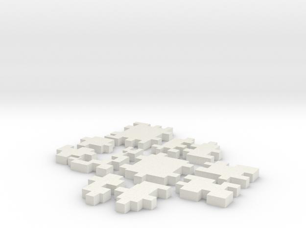 Cube Puzzle in White Natural Versatile Plastic
