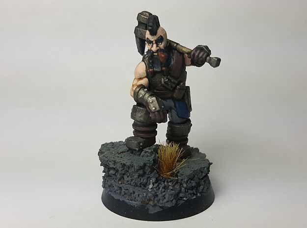 Dwarf Fighter in Black Hi-Def Acrylate