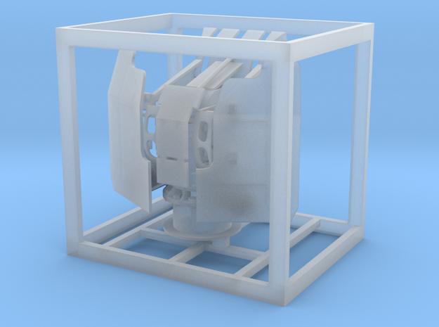 1:100 20mm Vierling mit Öffnung für Messingrohre in Smooth Fine Detail Plastic